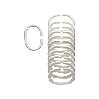 Arvix - 12 Anneaux plastique beige pour rideau de douche