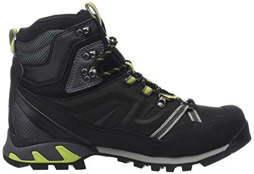 Miglio Unisex Adulto Percorso Alto Gtx Scarpe Da Trekking E Da Trekking Nero (carbone Di Legna / Verde Acido)