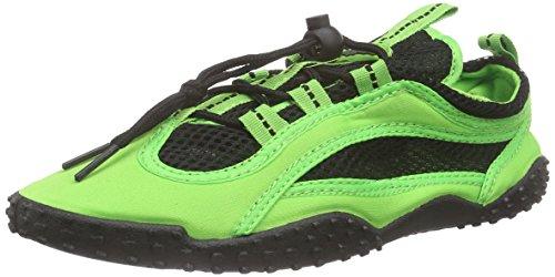 Playshoes Badeschuhe Surfschuhe neonfarben 174502, Unisex-Erwachsene Aqua Schuhe, Grün (grün 29), 40 EU -