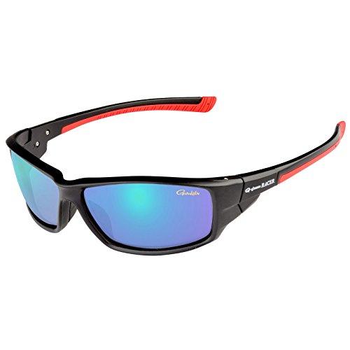 Gamakatsu Racer Polarisationsbrille Deep Amber Mirror Angler Brille Semi Hard Case