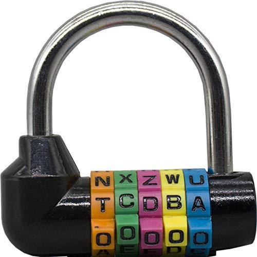 Cerradura Creativa, Letras inglesas de 5 dígitos, Bloqueo de contraseña, tamaño Grande, Cerradura...