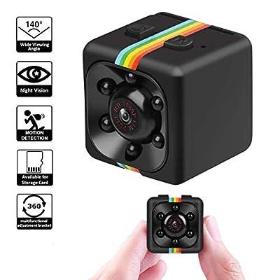 Tamlltide Mini Camera SQ11 HD 1080P Camcorder Sports Mini DV Video Recorder Spy Cameras with Night Vision & Motion Detection Security Camera