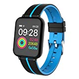 Haludock Smart Watch Health Checkup IP67 Waterproof Color Monitor Herzfrequenz-Monitor Bracelet Armband Armband für iOS Android mit Capacitive Touch Screen Unlock Remote Camera