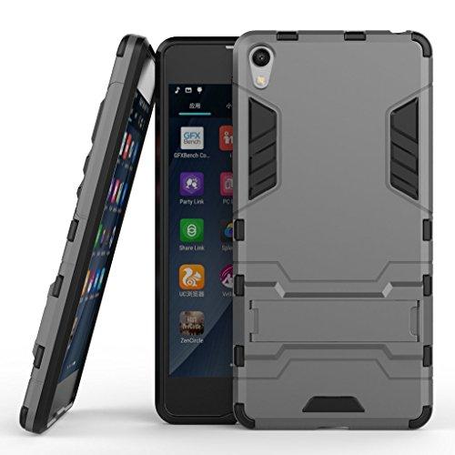 Aventus ( Grigio Scuro ) Samsung Galaxy A5 (2017) Custodia Sottile Fusion Armour Kickstand Slim Con Schermo Lcd Protector E Alluminio Auricolari Inclusi