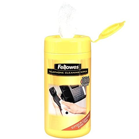Fellowes Telephone Cleaning Wipes 100/Tub Pre Moistened Wipes