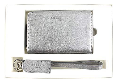 Liebeskind Berlin Damen Bundle2 Shiny Geldbörse, Silber (Iron Silver), 4.0x18.0x27.0 cm