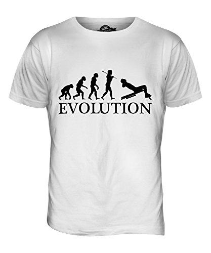 CandyMix Sit-Up Evolution Des Menschen Herren T Shirt Weiß