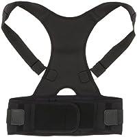 MagiDeal Geradehalter zur Haltungskorrektur Unisex Erwachsene Rücken Schulter Halterung Stabilisator - Schwarz, L preisvergleich bei billige-tabletten.eu