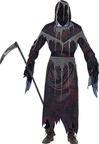 Smiffy's 22883XL Grim-Reaper-Kostüm mit Maske, (Ein Kostüm Grim Reaper)