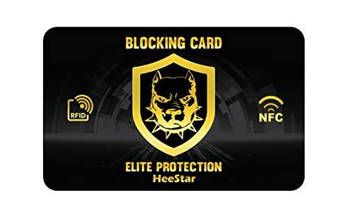 Protection Carte Bancaire - Carte de Blocage RFID - Protecteurs de Carte de Crédit sans Contact – Anti Rfid/Nfc - Protège le Passeport et autres Documents - Une Seule Carte Protége Tout le Portefeuill