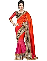 Jay Fashion Georgette Saree With Blouse Piece (Gfssss4_Multi-Coloured_Free Size)