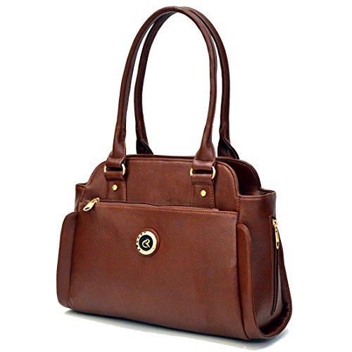 INKDICE Brown Women\'s Handbag Office Casual Purse Shoulder Bag