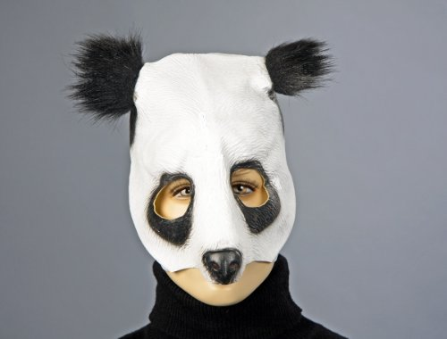 Tiermaske Panda lustige Maske Bär zu Karneval Fasching (Panda Bär Maske)