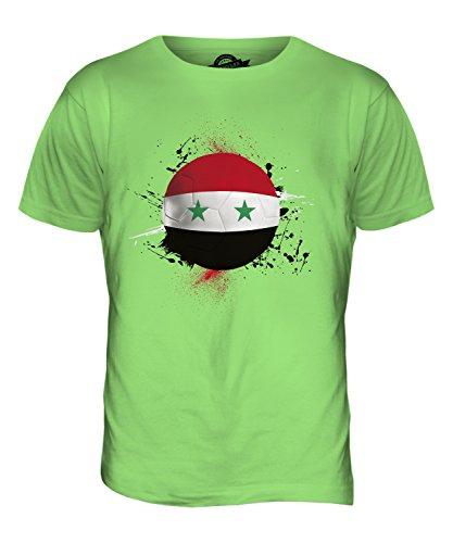 CandyMix Syrien Fußball Herren T Shirt Limettengrün