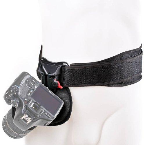 Spider Black Widow Camera Holster Hüft-Tragesystem für 1 kleine DSLR oder Systemkamera - ikl. Kamerahalfter und Hüftgurt