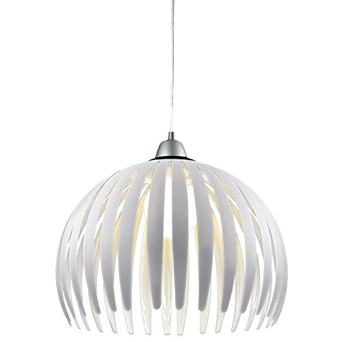 Hänge Lampe Esszimmer Pendel Küchen Leuchte steckbar weiß Decken Strahler E27 Esto 914006 (Küche Pendel-leuchten)