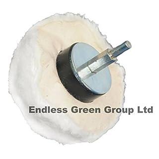 Bolpol - Cotton Polishing DOME SHAPE / RAG MOP 80mm diameter on 6mm Shaft DM80