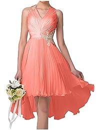 La mia Braut Anmutig Champagner Kurzes Abendkleider Partykleider  Festlichkleider Promkleider Cocktailkleider Knielang mit… 9f0f4152d1