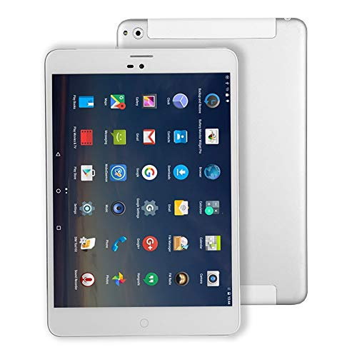 Tablet PC 4G LTE mit SIM Karte Slot - Winnovo M798 Android Tablet Mini 7.85 Zoll mit WiFi GPS Quad Core 16 Go ROM HD 1024x768 Doppelkamera Bluetooth - Silbermetall (Samsung 3 7-zoll-kinder Fall Tablet)