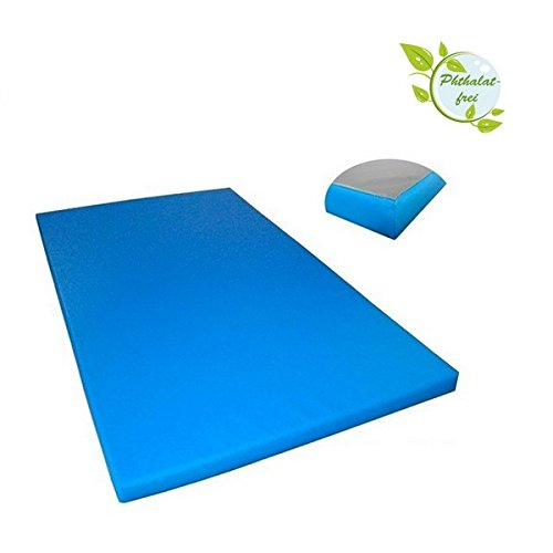 Alpidex Matte Turnmatte Sportmatte Gymnastikmatte 200 x 100 x 8 cm mit Antirutschboden RG 20 (sehr weich), Farbe:hellblau