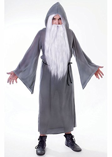 Roben Assistent Kostüm - Struts Fancy Dress Erwachsene Gandalf-Stil grau-Assistenten Robe Kostüm