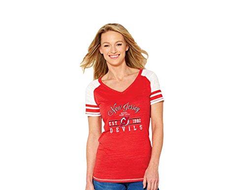 Soft As A Grape NHL Florida Panthers Damen Rundhalst Crewneck Tee, Größe L, rot -