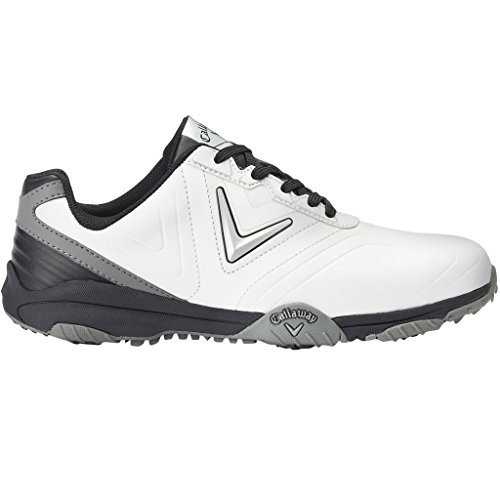 Callaway chev comfort, scarpe da golf uomo, bianco (white/black) (nero), 44.5 eu