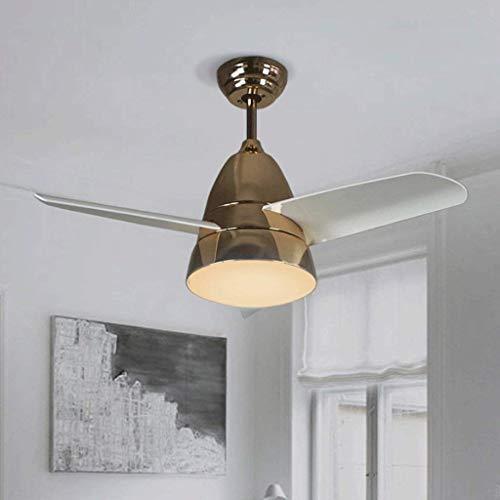 Nordic Ventilator Kronleuchter Wohnzimmer Restaurant Silent Lüfter  Scheinwerfer Fernbedienung Deckenventilator Lampe