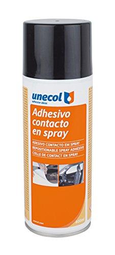 Unecol 3207 - Adhesivo de contacto (espray reposicionable aerosol, 400 ml) color...