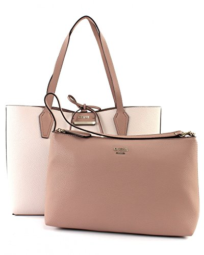Guess Damen Bags Tote Schultertasche, Mehrfarbig (Stonemocha), 12.5x27x42.5 centimeters (Tote Bag Shopper)