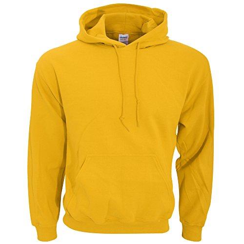 Gildan Heavy Blend Erwachsenen Kapuzen-Sweatshirt 18500 S, Gold - Erwachsenen Hoodie Pullover
