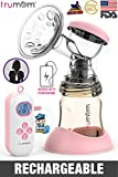 Trumom Advance Rechargeable Battery Electric Breast Milk Feeding Pump with PPSU Gold Bottle