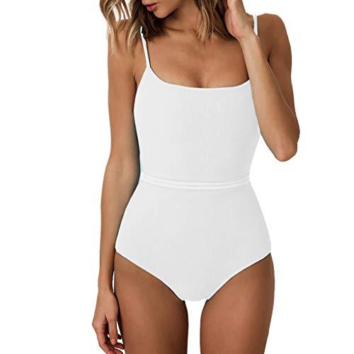 Dessous für Damen Sexy Frauen DessousFrauen Sexy Bikini Push Up Padded Bandage Bademode Beachwear Badeanzug von Evansamp(Weiß,L) -