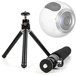 DURAGADGET Mini Treppiede | Bastone Selfie Per Samsung Gear 360 | LG 360 CAM | Drift Stealth 2 - Estensibile