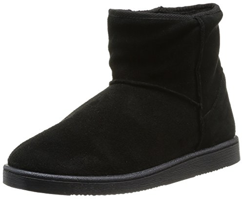 PIECES - Ps Ume Suede Boot Black, Stivali Donna Nero (Black (nero))