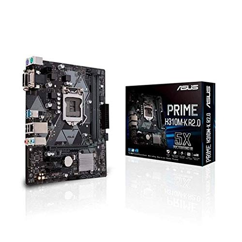 Asus prime h310m-k r2.0 scheda madre intel h310 matx, ddr4 2666 mhz, sata 6 gbps and usb 3.1 gen 1