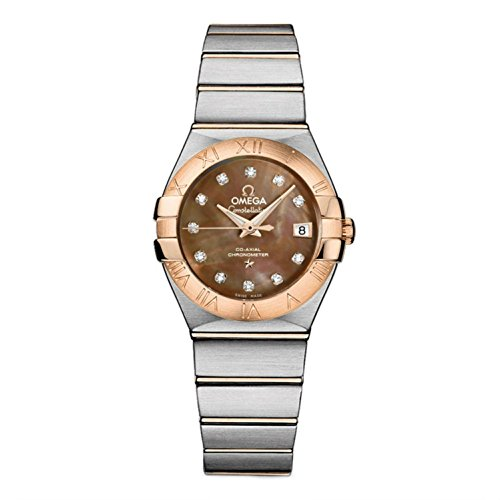 OMEGA Women's Constellation Diamond 27mm Steel Bracelet & Case Automatic Analog Watch 123.20.27.20.57.001