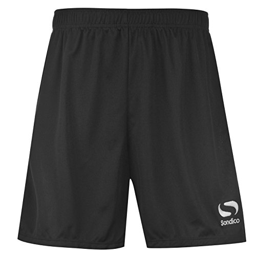 Sondico Core Herren Fussball Shorts Sport Training Kurze Hose Sporthose Schwarz XXXXL (Drawstring Denim-shorts)