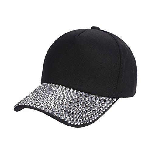 LUOEM Unisex Baseball Hat Cap mit Strass für Golf Radfahren Laufen (Kostüme Erwachsene Sandwich)