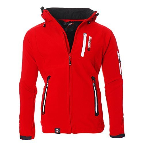Geographical Norway Trimaran Uomo Softshell Outdoor Giacca Impermeabile Anapurna Tecnica - Rosso, S