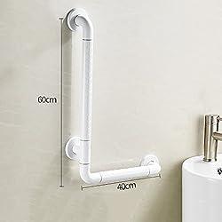 Fushou rostfrei Haltegriff Armlehne Nylon mit Beinen Barrierefrei Badezimmer Toilette Badezimmer Waschbecken Handlauf Alter Mann Behinderte Armlehne (größe : 40 cm)