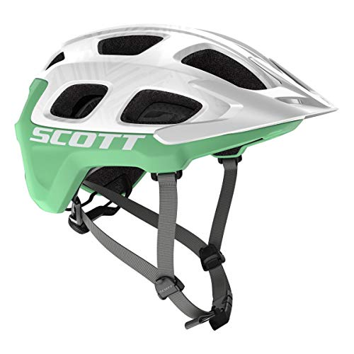 Scott Vivo Plus MTB Fahrrad Helm weiß/Mint 2019: Größe: M (55-59cm)