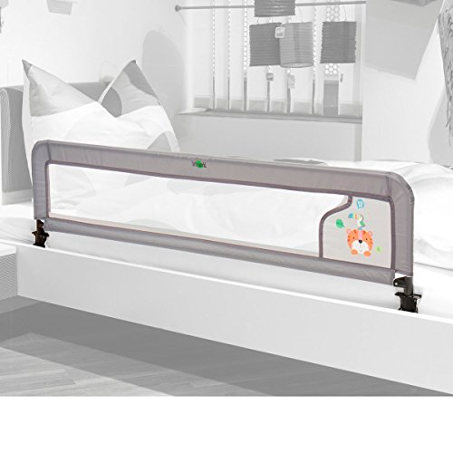 littleworld La barrière de lit LUXUS barrière de lit bébé, gris