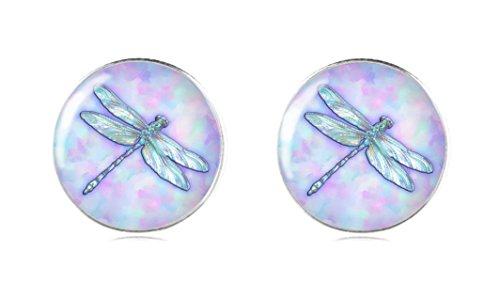 Sterling Silber 925 Libelle Ohrringe Ohrstecker 12 mm Handgemacht für Damen und Mädchen von Tizi Jewellery