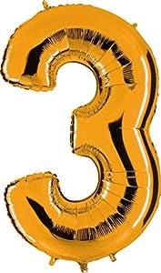 Grabo 023G-P Número 3 Superloon paquete único, longitud 40 pulgadas, color, oro, talla única