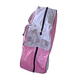 VORCOOL Skating Bag Rollschuh Taschen Oxford Durable Roller Skating Tragetasche Heavy Duty f Skates Tragetaschen mit Verstellbaren Schultergurt (Pink)