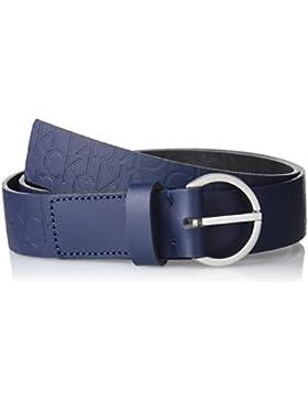 Calvin Klein Damen Gürtel Misha Logo Belt, Blau (Blue Night 411), 85
