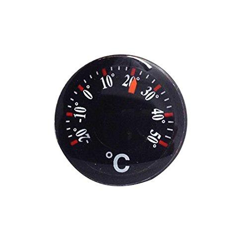 Bewegliche schwarze Thermometer Mini Kunststoff Runde Zeiger Temperatursensor Werkzeuge
