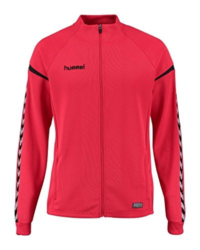 Hummel Auth. Charge Poly Zip Jacket-True Red, Rosso vivo, XL