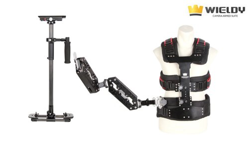 Wieldy 2014 II 1-9.5kg Pro Stabilizer + Vest + Dual Arm Steady Cam Systems for Video Camera DSLR (Stativ Steady Cam)
